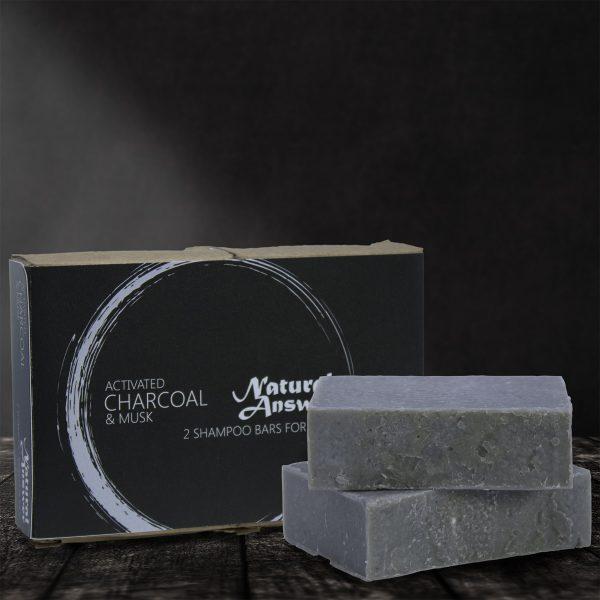 Natural Answer - Shampoo bar voor Mannen - Actieve Houtskool en Muskus