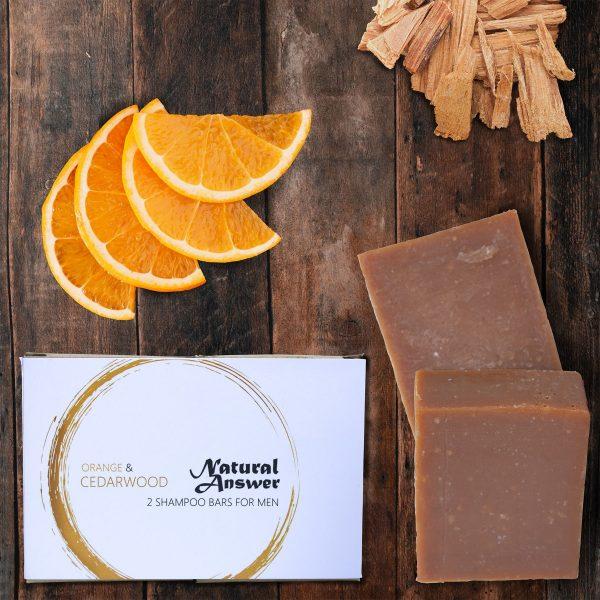 Natural Answer - Shampoo Bar voor Mannen - Sinaasappel en Cederhout