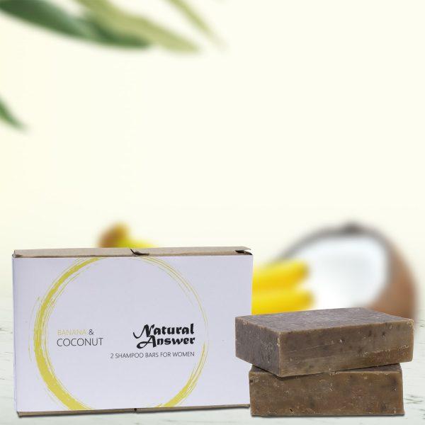 Natural Answer - Shampoo Bar voor Vrouwen - Banaan & Kokos