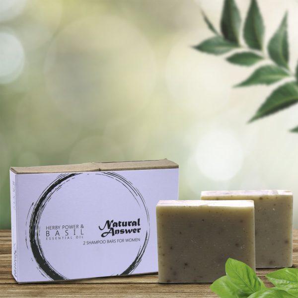 Natural Answer - Shampoo bar voor Vrouwen - Herby Power & Basilicum
