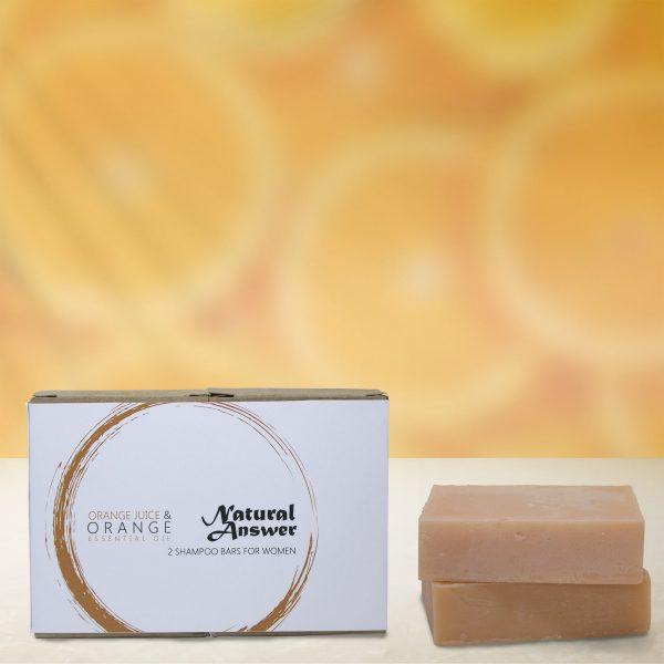 Natural Answer - Shampoo Bar voor Vrouwen - Sinaasappel & Sinaasappel Etherische Olie