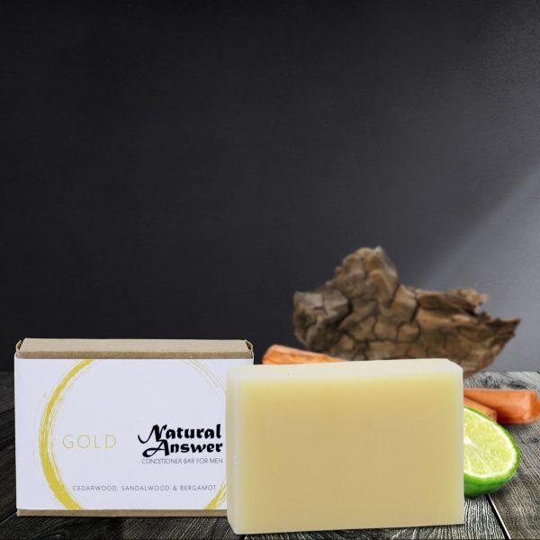 Gold - Natuurlijke Conditioner Bar voor Mannen - Cederhout, Sandelhout en Bergamot