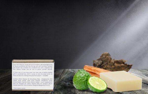 Natural Answer - Natural Conditioner bar for men - Gold