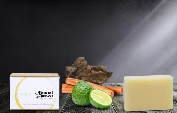 Natural Answer - Natural Conditioner Bar voor Mannen - Gold - Cederhout, Sandelhout en Bergamot - Natural Answer